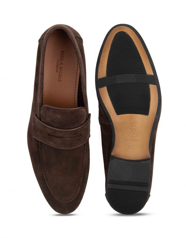Heel _ Buckle London-HBDARM089-Mosey Brown Penny Loafers-4