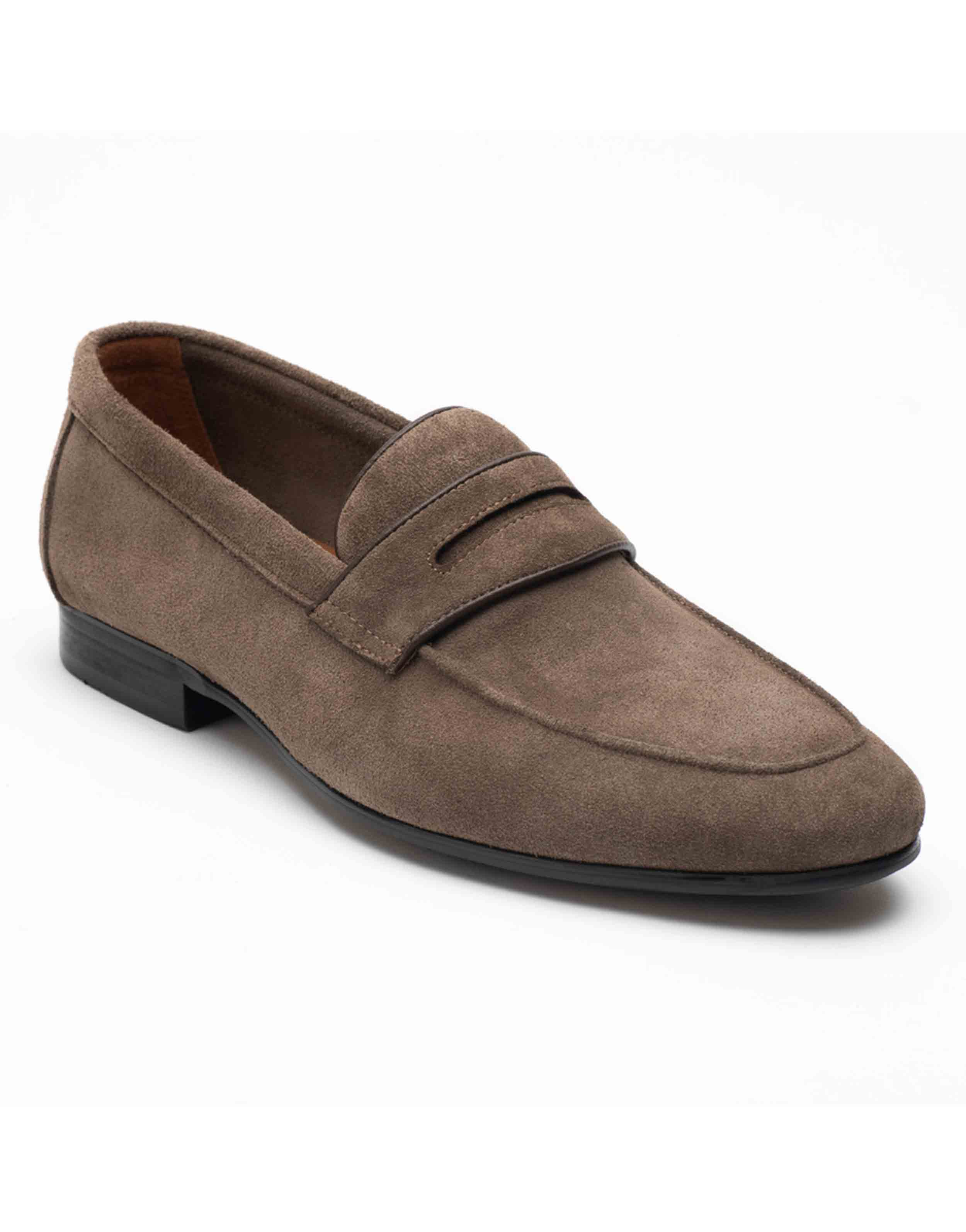 Heel _ Buckle London-HBDARM090-Mosey Grey Penny Loafers-2