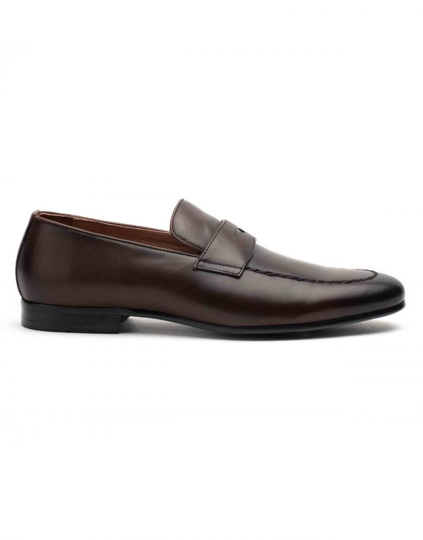 Heel _ Buckle London-HBDARM093-Diverse Brown Penny Loafers-1