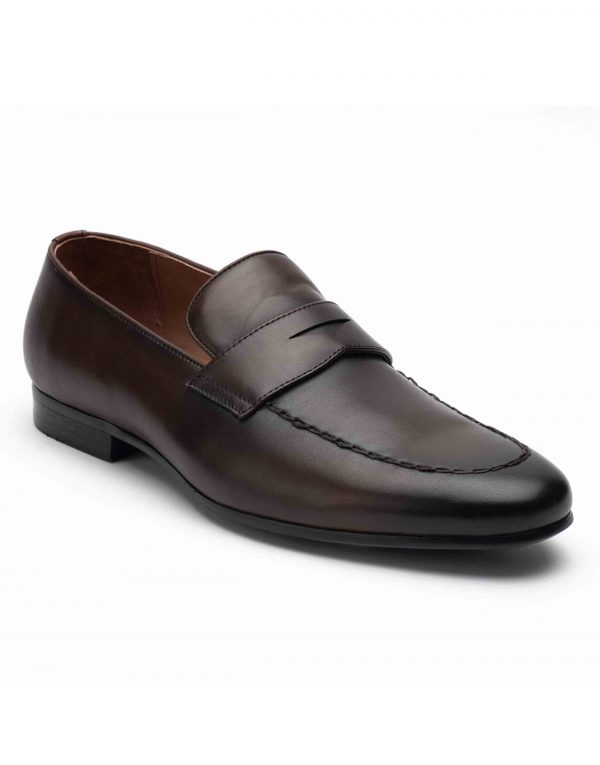 Heel _ Buckle London-HBDARM093-Diverse Brown Penny Loafers-2