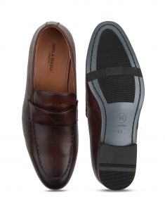 Heel _ Buckle London-HBDARM093-Diverse Brown Penny Loafers-4