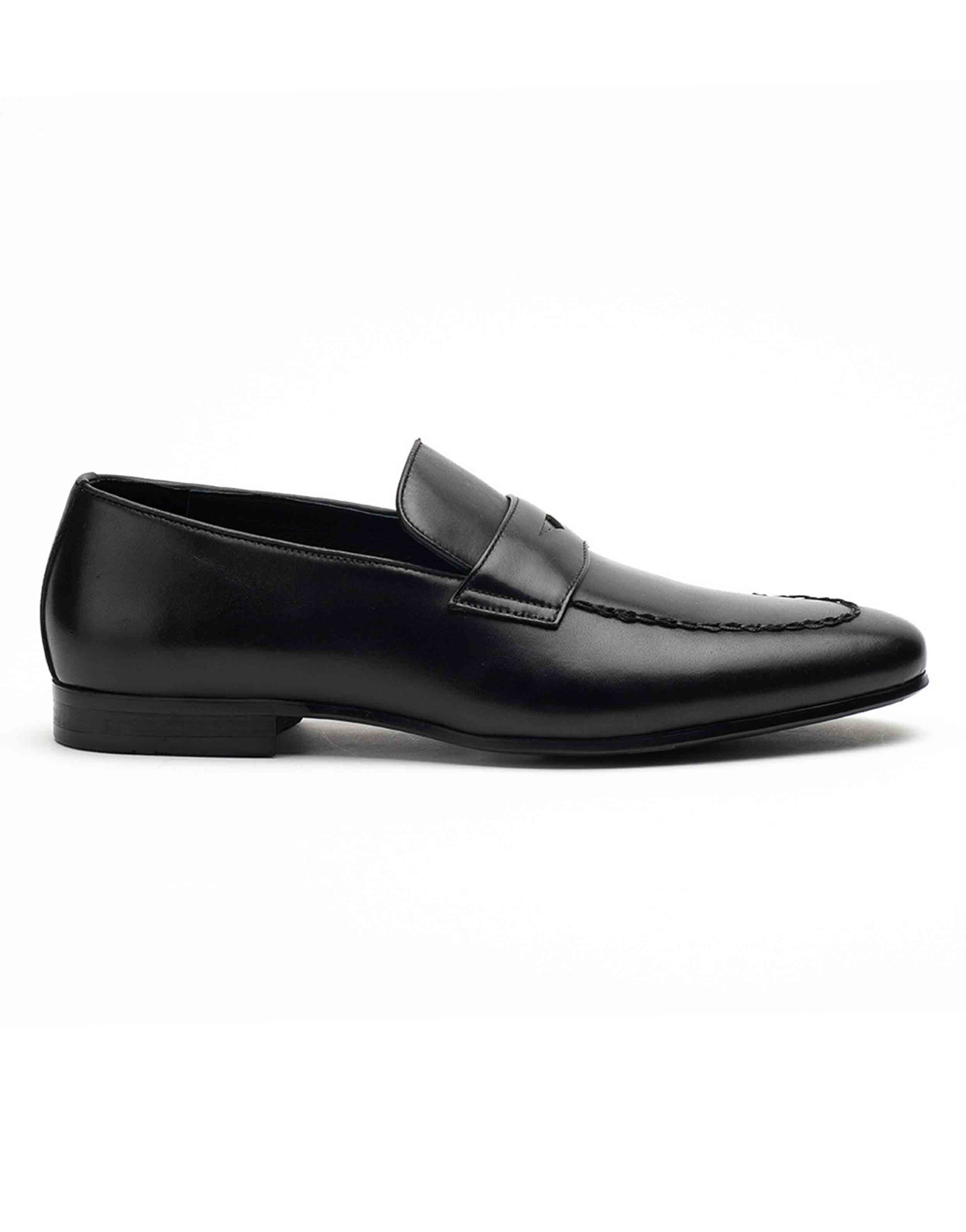 Heel _ Buckle London-HBDARM094-Diverse Black Penny Loafers-1