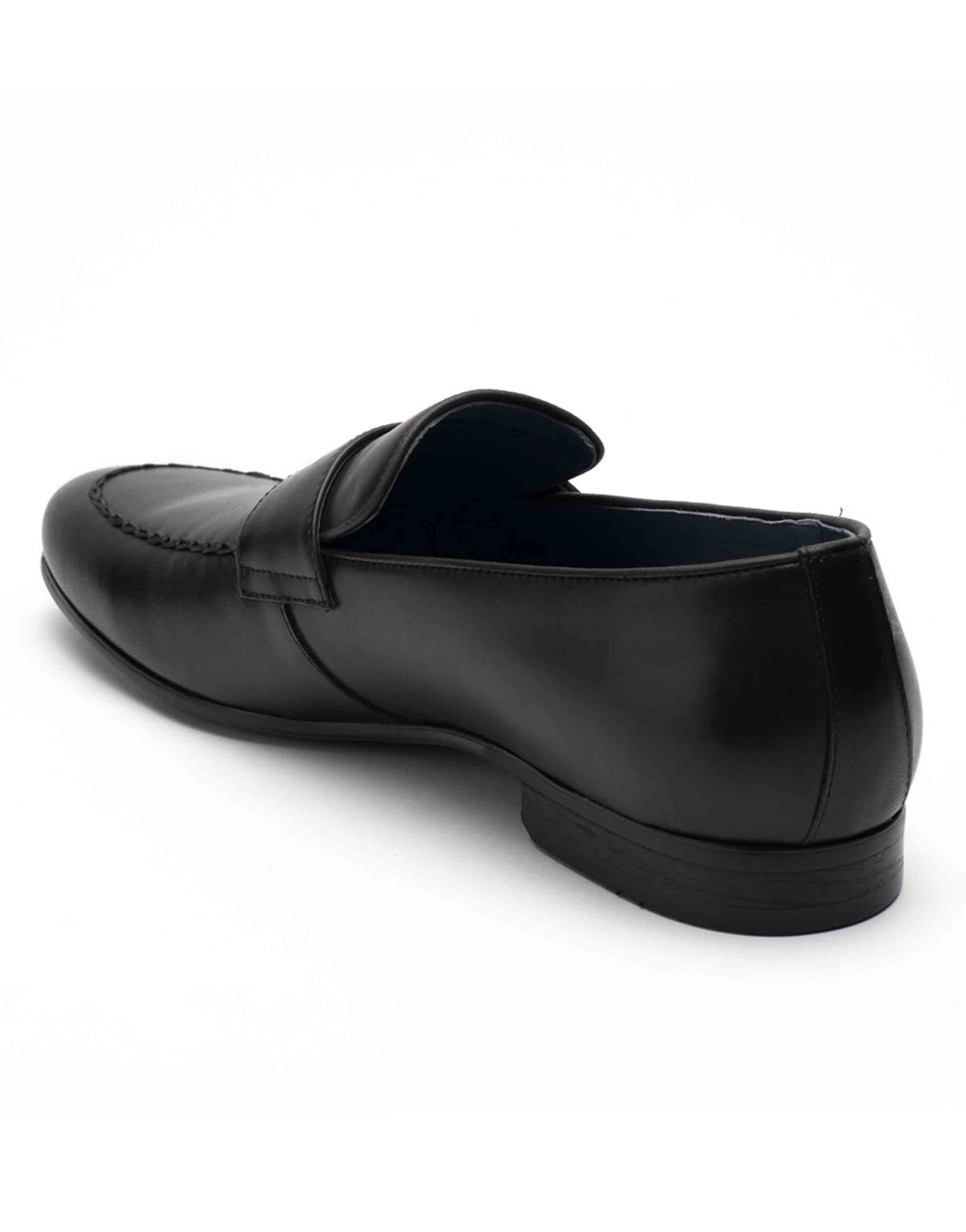 Heel _ Buckle London-HBDARM094-Diverse Black Penny Loafers-3