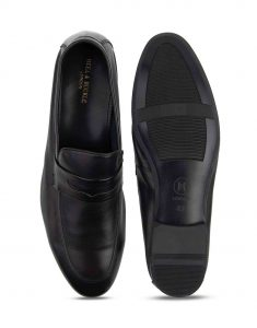Heel _ Buckle London-HBDARM094-Diverse Black Penny Loafers-4