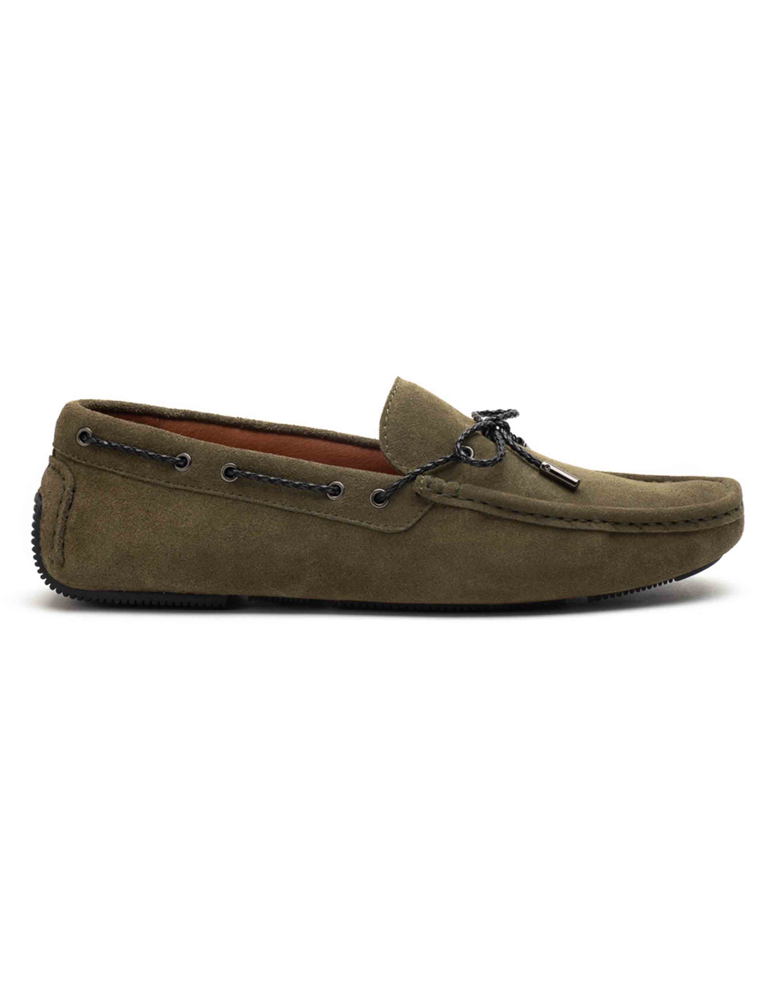 Heel _ Buckle London-HBDARM102-Olive Driving Moccassins-1