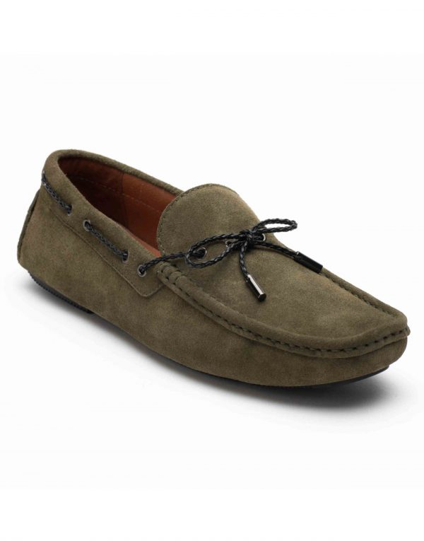 Heel _ Buckle London-HBDARM102-Olive Driving Moccassins-2