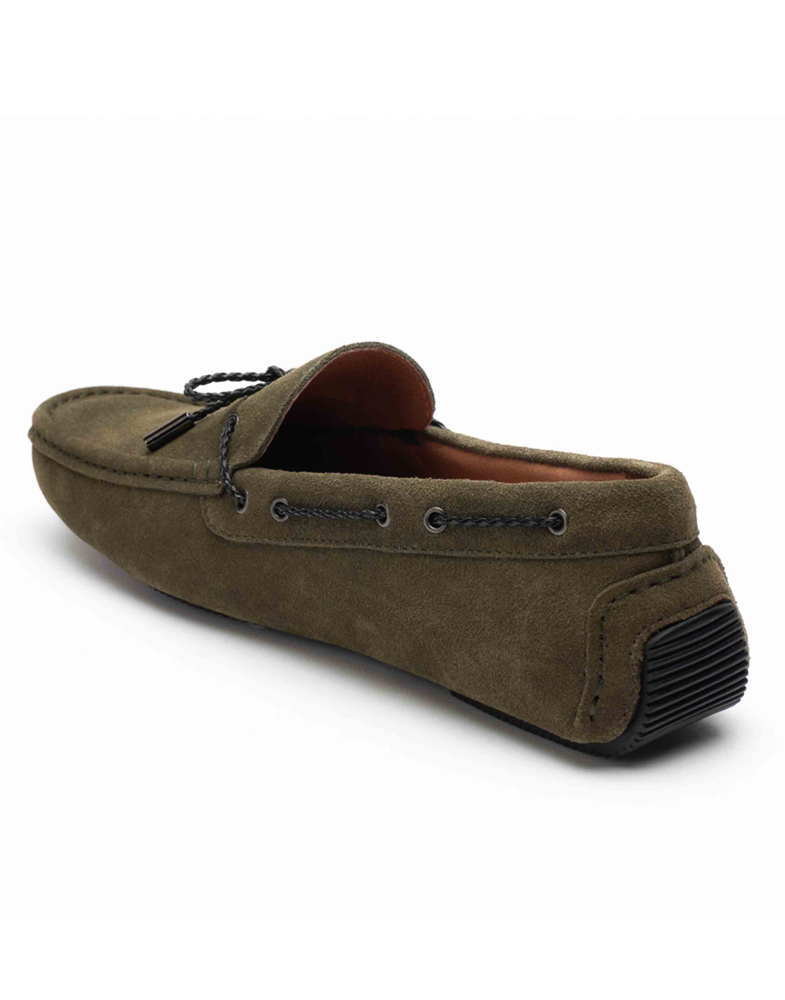 Heel _ Buckle London-HBDARM102-Olive Driving Moccassins-3