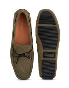 Heel _ Buckle London-HBDARM102-Olive Driving Moccassins-4