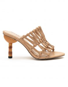 Heel _ Buckle London-Shoes-HBDARW078-Beige Strappy Heeled Sandals-1