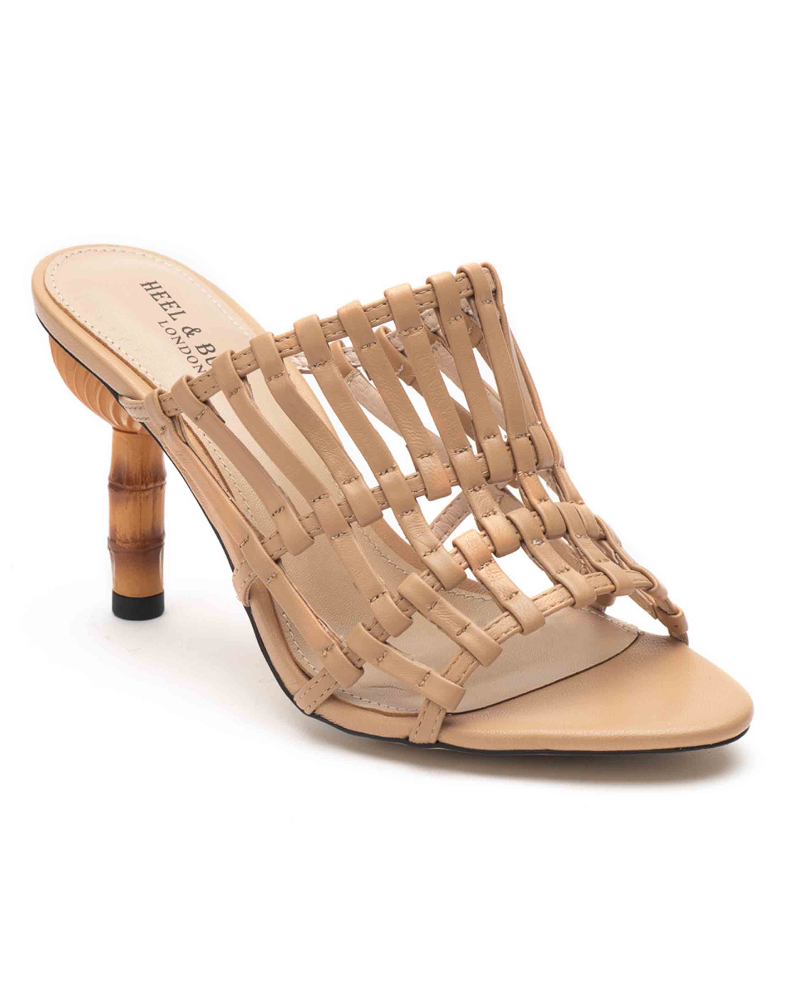 Heel _ Buckle London-Shoes-HBDARW078-Beige Strappy Heeled Sandals-2