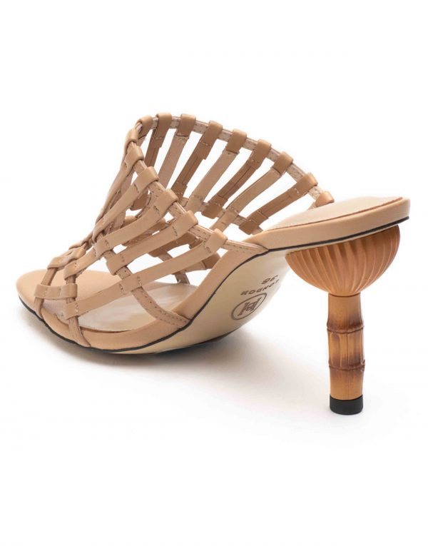 Heel _ Buckle London-Shoes-HBDARW078-Beige Strappy Heeled Sandals-3