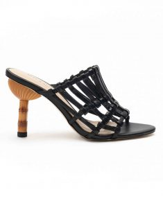 Heel _ Buckle London-Shoes-HBDARW079-Black Strappy Heeled Sandals-1