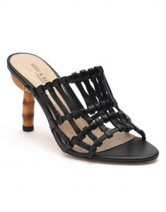 Heel _ Buckle London-Shoes-HBDARW079-Black Strappy Heeled Sandals-2