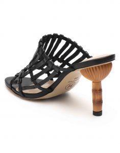 Heel _ Buckle London-Shoes-HBDARW079-Black Strappy Heeled Sandals-3