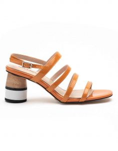 Heel _ Buckle London-Shoes-HBDARW082-Orange Back Strap Sandals-1