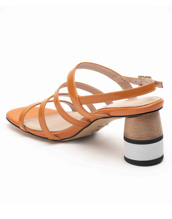 Heel _ Buckle London-Shoes-HBDARW082-Orange Back Strap Sandals-3