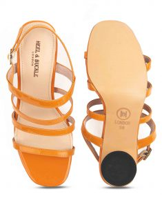 Heel _ Buckle London-Shoes-HBDARW082-Orange Back Strap Sandals-4
