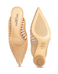 Heel _ Buckle London-Shoes-HBDARW083-Beige Globular Heel Sandals-4