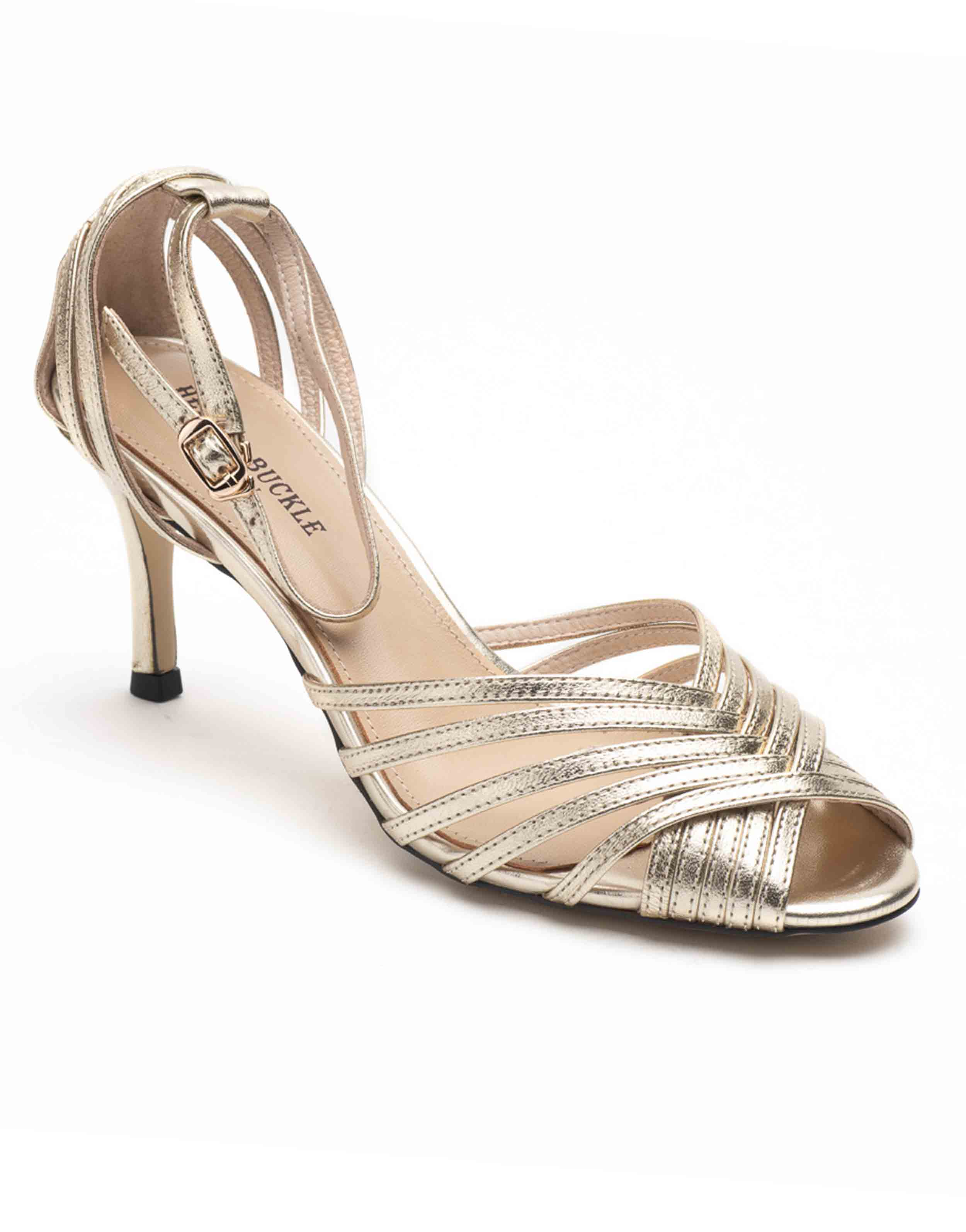Heel _ Buckle London-Shoes-HBDARW088-Metallic Gold Ankle Strap Sandals-Metallic-2