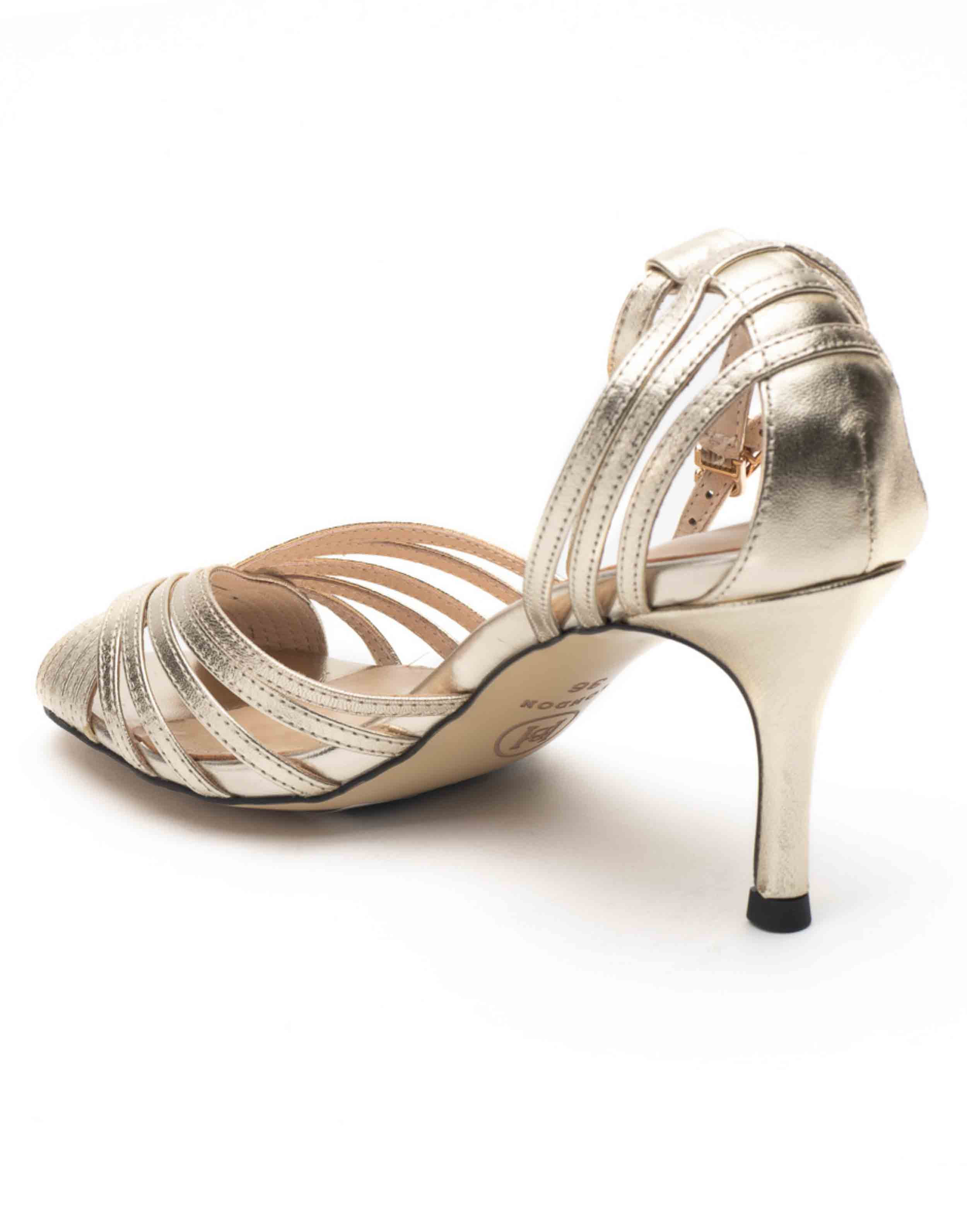 Heel _ Buckle London-Shoes-HBDARW088-Metallic Gold Ankle Strap Sandals-Metallic-3