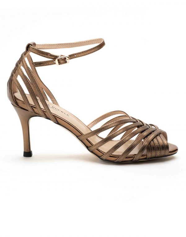 Heel _ Buckle London-Shoes-HBDARW089-Metallic Copper Ankle Strap Sandals-1
