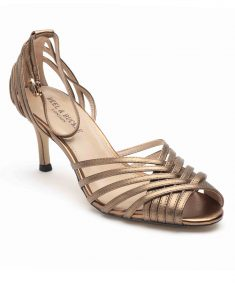 Heel _ Buckle London-Shoes-HBDARW089-Metallic Copper Ankle Strap Sandals-2