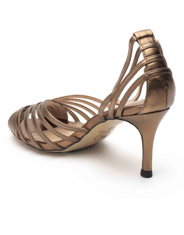 Heel _ Buckle London-Shoes-HBDARW089-Metallic Copper Ankle Strap Sandals-3