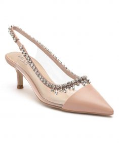Heel _ Buckle London-Shoes-HBDARW090-Blush Pink Studded Perspex Sandals-2
