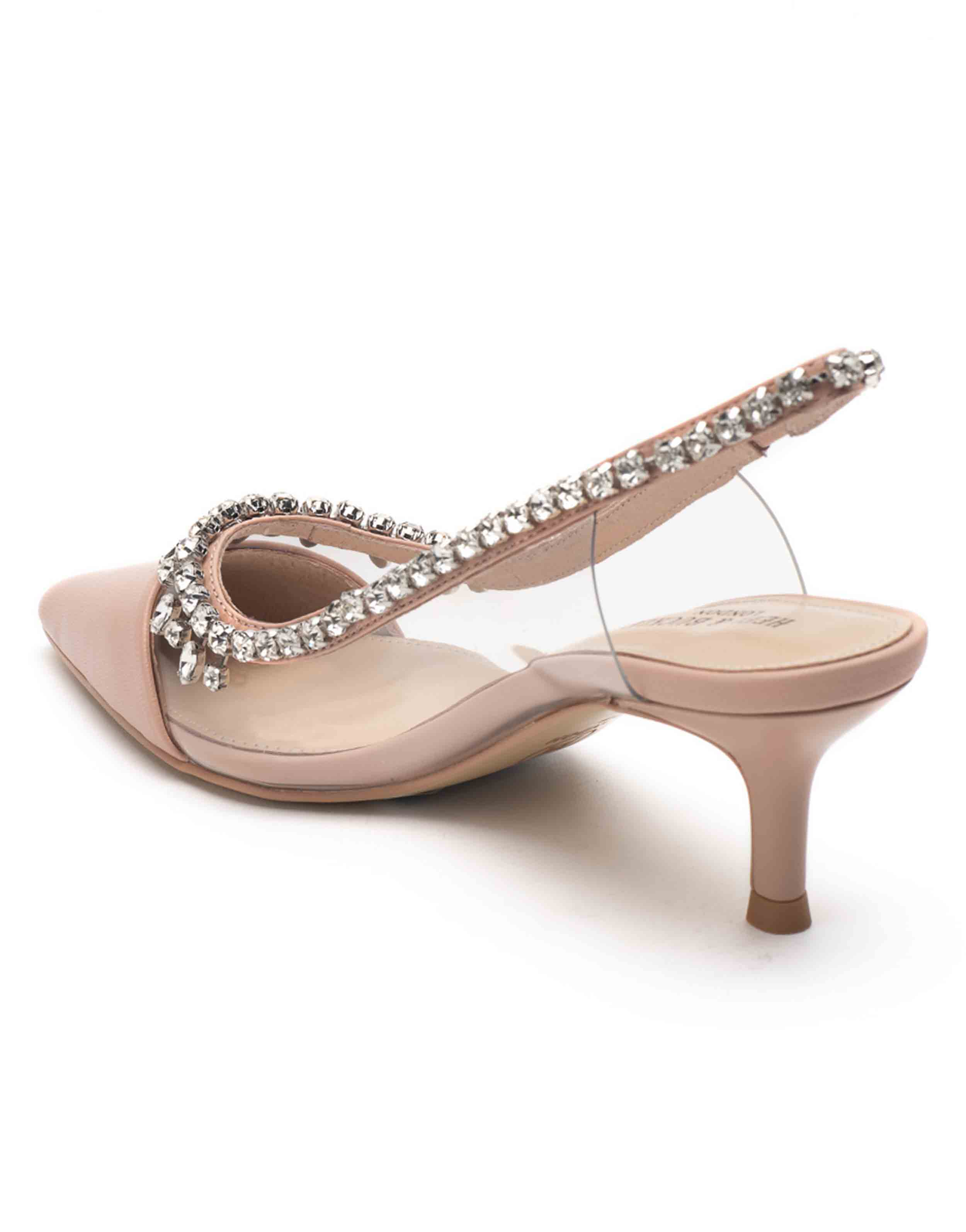 Heel _ Buckle London-Shoes-HBDARW090-Blush Pink Studded Perspex Sandals-3