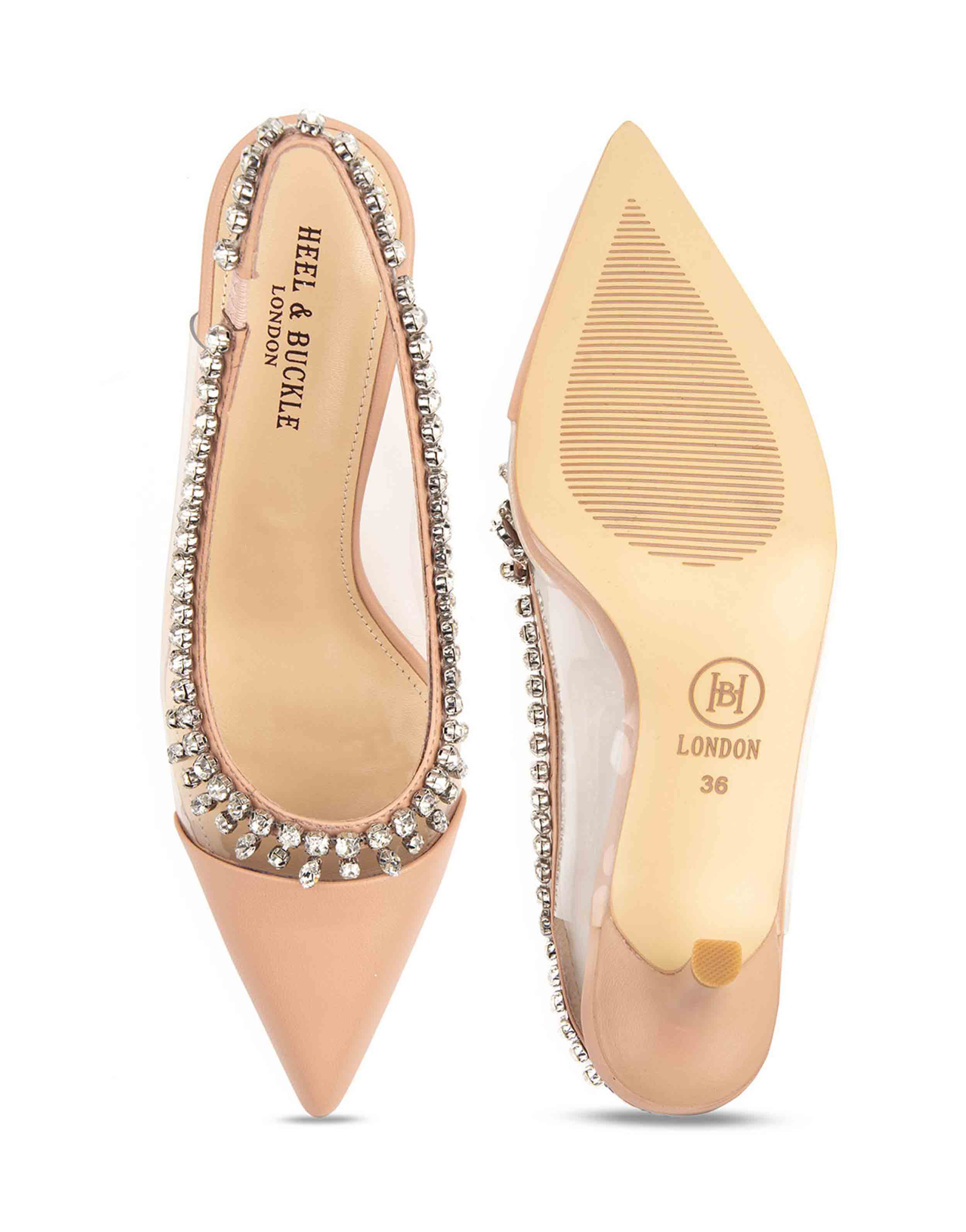 Heel _ Buckle London-Shoes-HBDARW090-Blush Pink Studded Perspex Sandals-4