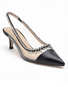 Heel _ Buckle London-Shoes-HBDARW091-Black Studded Perspex Sandals-2