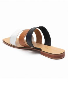 Heel _ Buckle London-Shoes-HBDARW100-Tri-colour Strap Flat Sandals-3