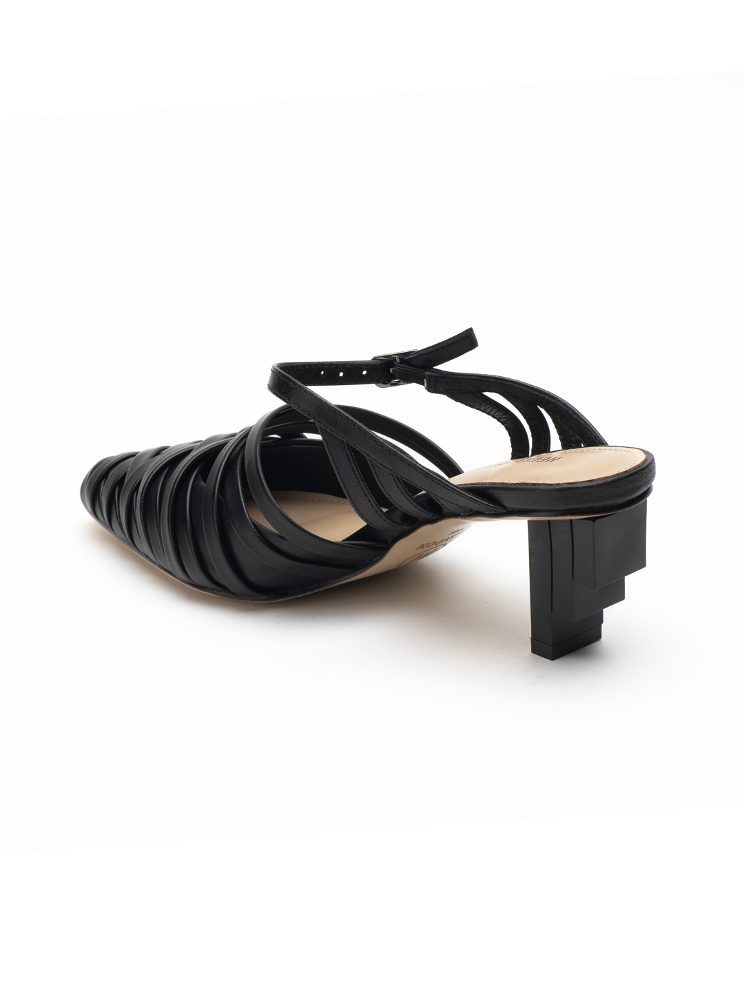 Heel & Buckle London-Shoes-HBDARW086-Asymmetrical Beige Strappy Sandals-Black-3