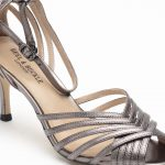 Heel & Buckle London-Shoes-HBDARW088-Metallic Gold Ankle Strap Sandals-Metallic grey-5