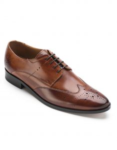 HEEL _ BUCKLE LONDON BROWN WINGTIP DERBY_2