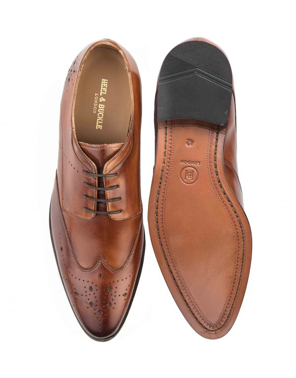 HEEL _ BUCKLE LONDON BROWN WINGTIP DERBY_4