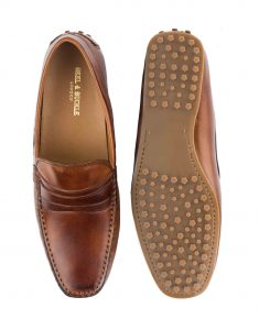 HEEL _ BUCKLE LONDON DRIVER LOAFERS SHOES_4