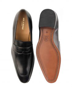 HEEL _ BUCKLE LONDON PENNY LOAFERS SHOES__4
